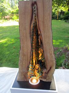 Wood Glass lamp 2