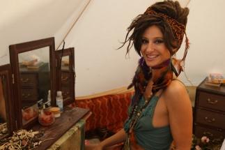 Cheryl in tent 4